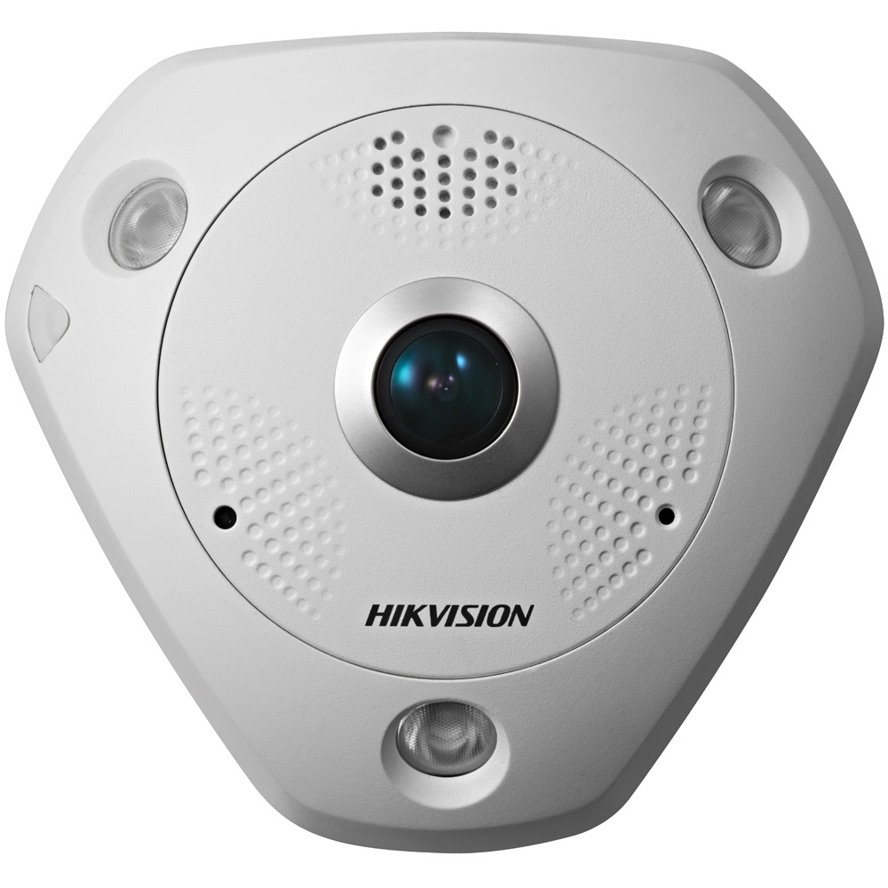 Панорамная 6Мп камера HikVision DS-2CD6362F-IVS FishEye-камера с ИК-подсветкой и DWDR: SECURECAM