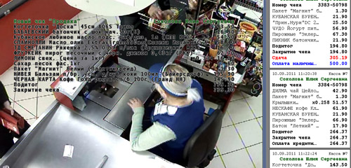 видеонаблюдение на кассу